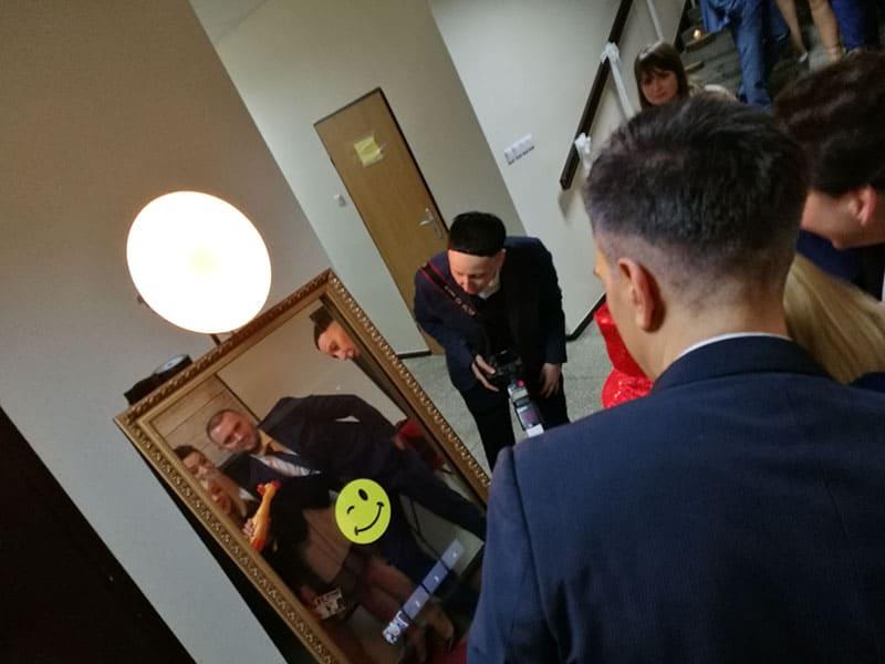 Foto Lustro, Selfie Mirror na weselu, Fotobudka na wesele